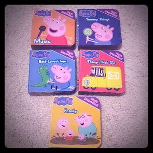 5 Peppa Pig mini board books.